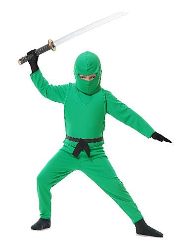 povoljno Maske i kostimi-Dječja Green Ninja kostim