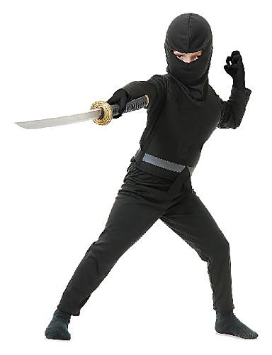 preiswerte Spielzeug & Hobby Artikel-Ninja Cosplay Kostüme Party Kostüme Kinder Jungen Halloween Karneval Kindertag Fest / Feiertage Satin Karneval Kostüme Solide / Top / Handschuhe