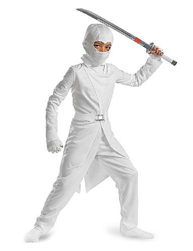 povoljno Maske i kostimi-Cool Dječji Bijela Ninjia kostim