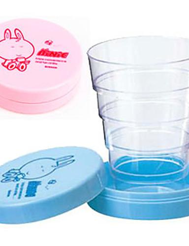 preiswerte Becher & Tassen-niedliche Cartoon portable zusammenklappbare teleskopische Tasse falten Reise Baby trinken Becher Geburtstagsgeschenk