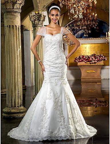 9464f7659a trombita / sellő hevederek tüll menyasszonyi ruha 551606 2019 – $399.99