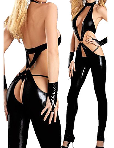 cheap Sexy Costumes-Women's Fifty Shades Sex Zentai Suits Cosplay Costume Catsuit Leotard / Onesie Gloves