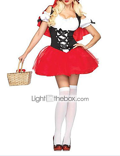 povoljno Maske i kostimi-sexy odrasla Crvenkapici haljina Halloween nošnja