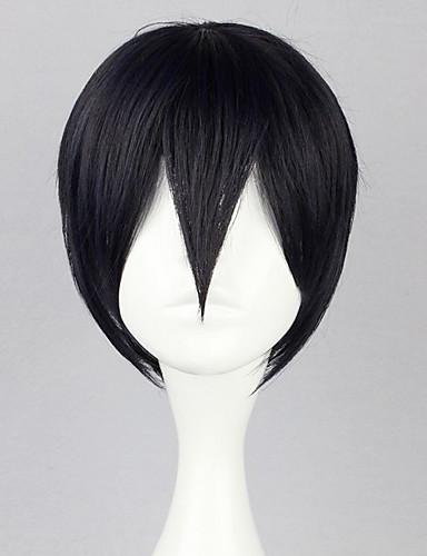 levne Cosplay paruky-Cosplay Haruka Nanase Cosplay Paruky Pánské 12 inch Horkuvzdorné vlákno Černá Anime
