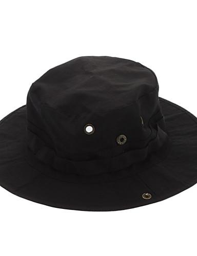 preiswerte Kleidung Accessoires-Wanderhut Sonnenhut Hut Flügelärmel Atmungsaktiv Solide Polyester für Herrn Damen Camping & Wandern Schwarz