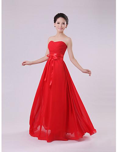 Qiaorui Fashion pasu bez ramínek dlouhé družička šaty (červené) 800470 2019  –  6.29 59ff690e6d