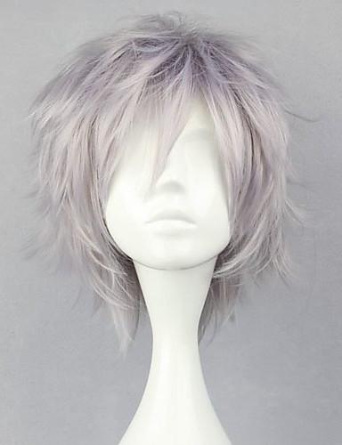 voordelige Cosplay Pruiken-Final Fantasy Hope Estheim Cosplaypruiken Heren 12 inch(es) Hittebestendige vezel Zilver Anime