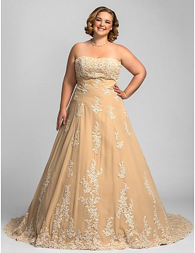 c1aed7826e821 A-الخط بدون حمالات ذيل كنسية صغيرة شيفون فساتين الزفاف صنع لقياس مع بواسطة    Wedding Dresses in Color 247242 2019 –  219.99