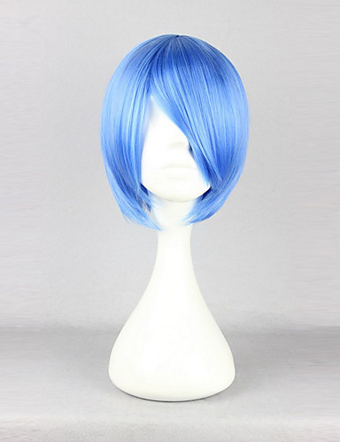 levne Cosplay paruky-Cosplay Rei Ayanami Cosplay Paruky Dámské 12 inch Horkuvzdorné vlákno Modrá Anime