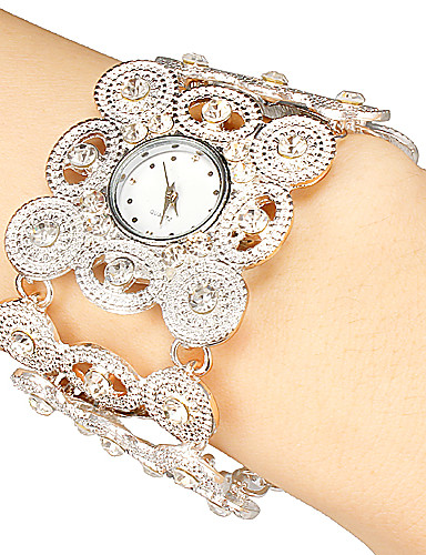 cheap Bracelet Watches-Women's Luxury Watches Bracelet Watch Japanese Quartz Black / Silver / Gold Hollow Engraving Analog Ladies Sparkle Bohemian Fashion Elegant - Gold Black Silver