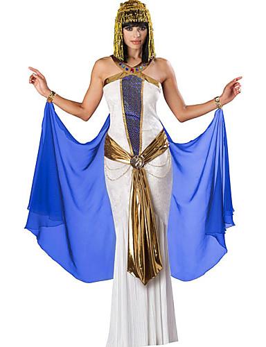 billige Halloween- og karnevalkostymer-Egyptiske Kostymer Cosplay Kostumer Dame Halloween Karneval Festival / høytid polyester Dame Karneval Kostumer