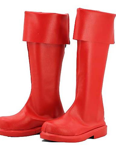 preiswerte Videospiele Cosplay Schuhe-Cosplay Stiefel Vocaloid Hatsune Miku Anime Cosplay Schuhe PU-Leder Damen Halloween Kostüme