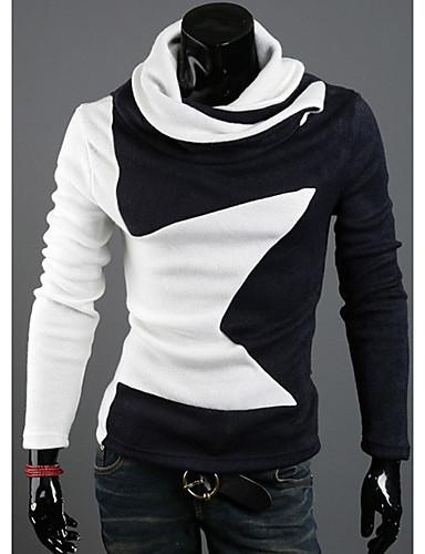 120edad226 DJJM Férfi magas nyakú pulóver Pentagram Tervezés meleg Dél-Korea Velvet  hosszú ujjú kötött (fehér) 1333347 2019 – $3.99