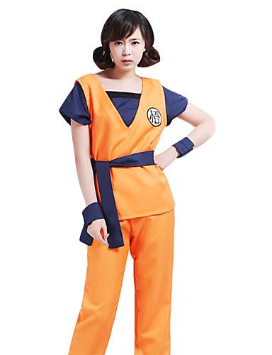 povoljno Anime cosplay-Inspirirana Dragon Ball Goku Anime Cosplay nošnje Japanski Cosplay Suits Kolaž Kratkih rukava Mellény / Hlače / Pojas Za Muškarci