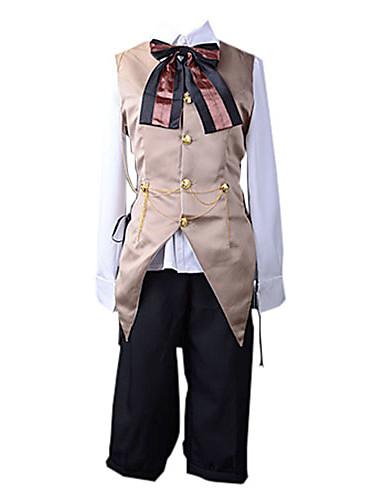povoljno Maske i kostimi-Inspirirana Vocaloid Kagamine Len Video igra Cosplay nošnje Cosplay Suits Kolaž Mellény Bluza Hlače Kostimi / Saten