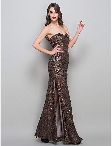 Formal Evening Military Ball Dress Brown Plus Sizes Petite