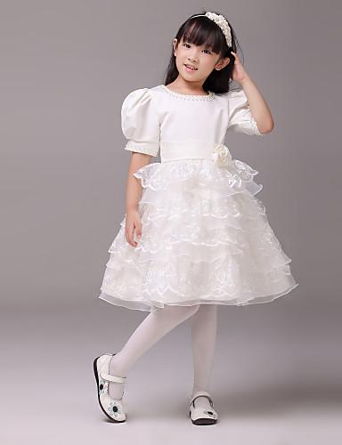 a9053393085 Plesové šaty koleno délka květina dívka šaty - krajka krátké rukávy šperk  krk 826327 2018 –  59.99