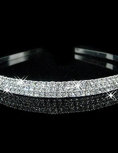 preiswerte Stirnbänder-Krystall / Strass / Stoff Tiaras / Stirnbänder mit 1 Hochzeit / Party / Abend Kopfschmuck