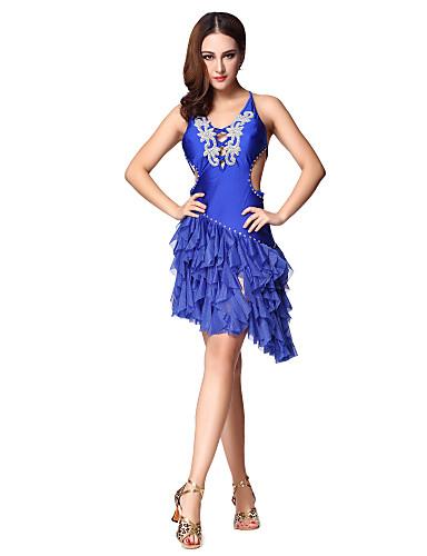 808726ee Dancewear kvinner Sexy paljett Split Front straped ryggløse Polyester Latin  Dance Kjole (flere farger med pads) 1082050 2019 – $49.99