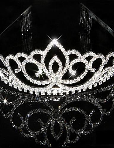 cheap Wedding Accessories-Crystal Rhinestone Tiaras Headpiece
