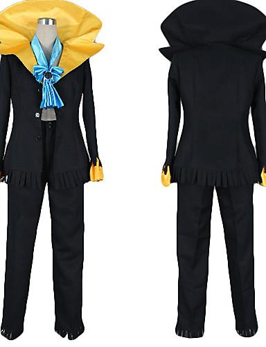 povoljno Maske i kostimi-Inspirirana One Piece Potok Anime Cosplay nošnje Japanski Cosplay Suits Color block Kaput / Hlače / Kravata Za Muškarci