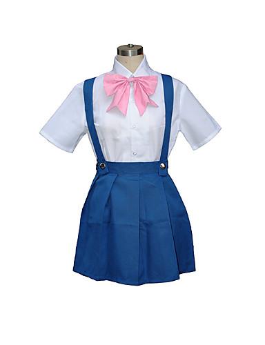 povoljno Maske i kostimi-Inspirirana Cosplay Rika Furude Video igra Cosplay nošnje Cosplay Suits / School Uniforms Kolaž Kratkih rukava Shirt Haljina Luk Kostimi