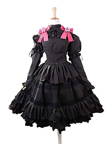 povoljno Maske i kostimi-Inspirirana Datum uživo Kurumi Tokisaki Anime Cosplay nošnje Japanski Cosplay Suits / Dresses Mašna Top / Suknja / Traka za kosu Za Žene