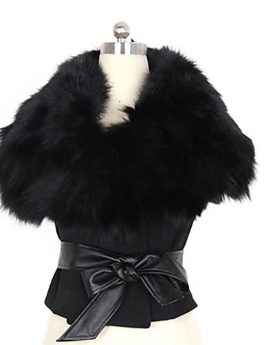 női szőrme gallér rövid kabát övvel 1208596 2019 –  6.29 2ccbdf4fec