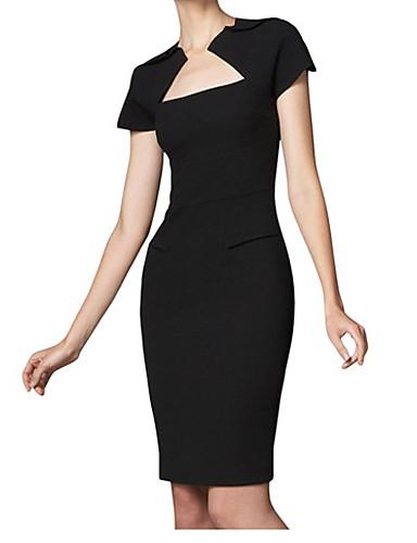 b5f5aa898f MIUSOL Women nyugati Fashion Bateau Karcsúsító Bodycon rövid ujjú ruha ( fekete) 1186486 2019 – $14.99