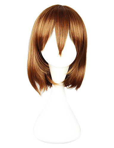povoljno Anime cosplay-Cosplay Cosplay Cosplay Wigs Žene 14 inch Otporna na toplinu vlakna Anime