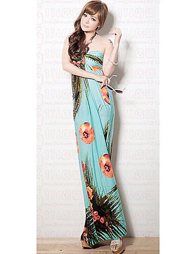 78db2f80628 DeeQueen Dámské elegantní květinovým potiskem šifon Maxi šaty A099 1380973  2019 –  6.29