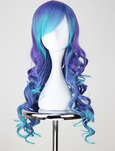 levne Cosplay paruky-Vocaloid Luca Cosplay Paruky Dámské 30 inch Horkuvzdorné vlákno Modrá Anime