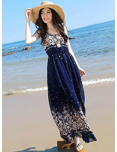 425abb4f5d5 DeeQueen Dámské elegantní květinovým potiskem šifon Maxi šaty A106 1381002  2019 –  8.79
