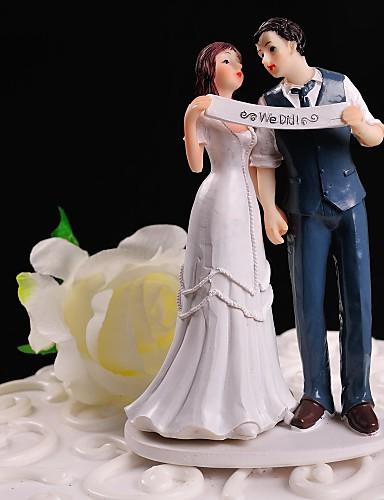 preiswerte Spezial Angebote-Tortenfiguren & Dekoration Blumen Klassisch Klassisches Paar Harz Hochzeit Mit Geschenkbox
