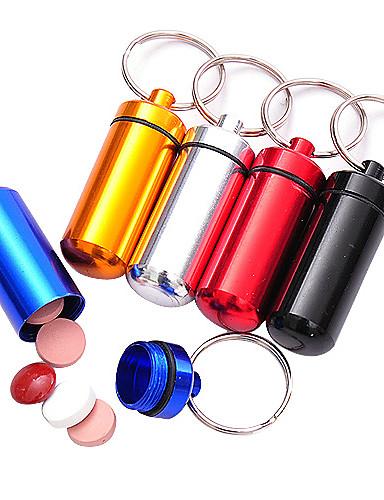 preiswerte Dinge die man fürs Camping & Wandern braucht-Reisemedikamentenbox Pille Fall Wasserfest Mini Schlüsselanhänger Kompakte Größe Notfall Kunststoff Wandern Camping Reisen Draußen Willkürliche Farbe