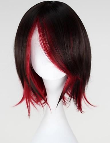 levne Cosplay paruky-RWBY Rubínově červená Cosplay Paruky Dámské 14 inch Horkuvzdorné vlákno Červená Anime
