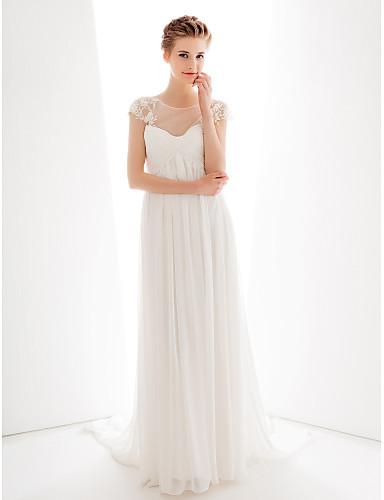 lan ting köpeny   oszlop esküvői ruha - elefántcsont kedvesét söpörni    kefe vonat sifon 1575666 2019 –  149.99 1dc11daf4d