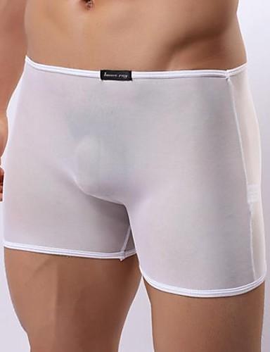 voordelige Herenondergoed & Zwemkleding-Netstof Effen - Super Sexy Boxer shorts Heren 1 Stuk