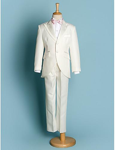 Ivoire Noir Polyester Costume de Porteur d Alliance - 5 Comprend Veste  Large Ceinture Chemise Pantalon Noeud Papillon de 1634567 2018 à  79.99 a1ecae22e28