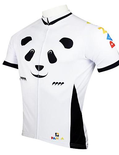 povoljno Odjeća za vožnju biciklom-ILPALADINO Muškarci Kratkih rukava Biciklistička majica Obala Panda Bicikl Biciklistička majica Majice Brdski biciklizam biciklom na cesti Prozračnost Quick dry Ultraviolet Resistant Sportski