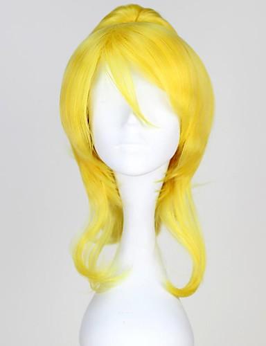 levne Cosplay paruky-Love Live cosplay Cosplay Paruky Dámské 18 inch Horkuvzdorné vlákno Zlatá Anime
