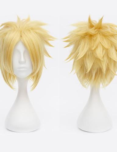 povoljno Anime cosplay-Final Fantasy Cloud Strife Cosplay Wigs Muškarci 12 inch Otporna na toplinu vlakna Anime