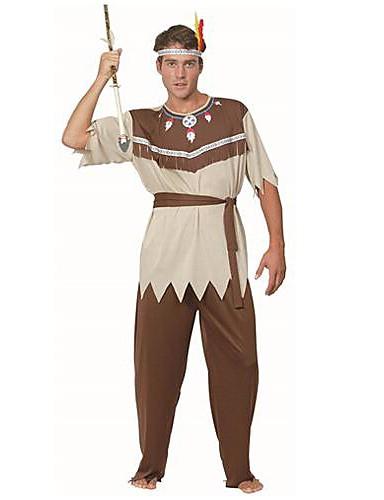 preiswerte Kostüme für Erwachsene-Primitiv Cosplay Kostüme Herrn Halloween Fest / Feiertage Polyester Herrn Karneval Kostüme / Kopfbedeckung