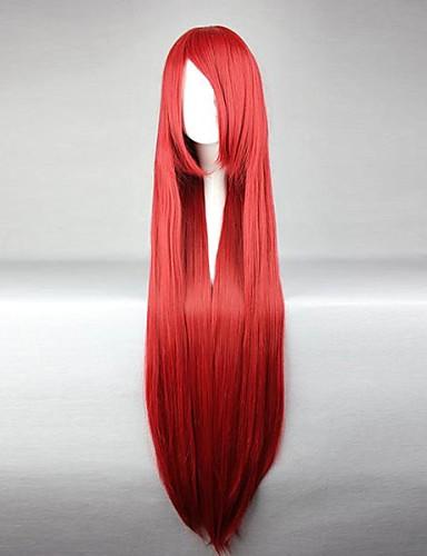 levne Cosplay paruky-Fairy Tail Elza Scarlet Cosplay Paruky Dámské 40 inch Horkuvzdorné vlákno Červená Anime