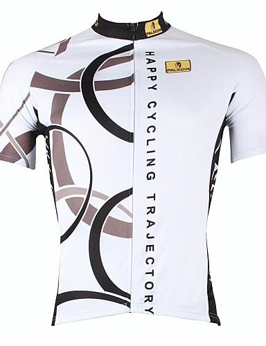 povoljno Biciklističke majice-ILPALADINO Muškarci Kratkih rukava Biciklistička majica Obala žuta Bijela Bicikl Biciklistička majica Majice Brdski biciklizam biciklom na cesti Prozračnost Quick dry Ultraviolet Resistant Sportski