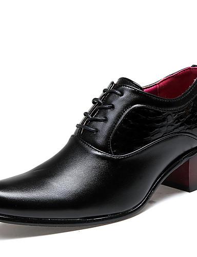 billige Oxford-sko til herrer-Herre Novelty Shoes Fuskelær Vår / Høst Oxfords Svart / Komfort Sko / EU40