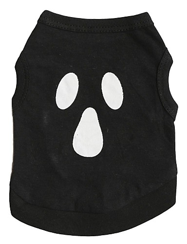 preiswerte Spielzeug & Hobby Artikel-Katze Hund T-shirt Hundekleidung Atmungsaktiv Schwarz Kostüm Baumwolle Totenkopf Motiv Halloween XS S M L