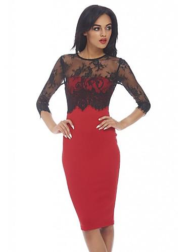 ομορφιά μακρύ μανίκι κυρία γραφείο φόρεμα κομψό midi bodycon επίδεσμο λεπτή  δαντέλα pencil φόρεμα office 9275 2138678 2019 –  3.14 29dd97e7667