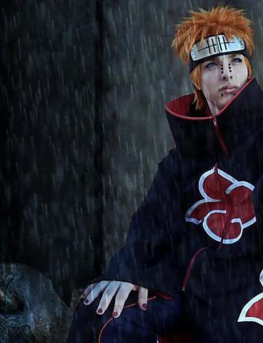 levne Cosplay paruky-Naruto cosplay Cosplay Paruky Pánské 14 inch Horkuvzdorné vlákno Oranžová Anime