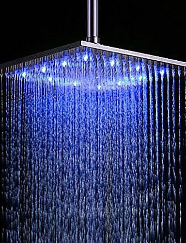 cheap LED Shower Heads-Contemporary Rain Shower Brushed Feature-Rainfall LED , Shower Head
